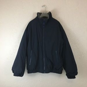 Eddie Bauer polartec jacket black xl lined nylon